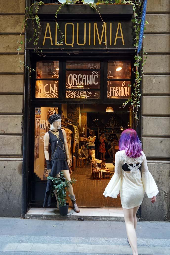 barcelona fashion blogger, shopping