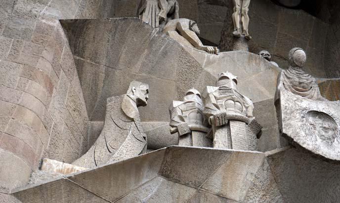 gaudi religious sculptures, sagrada