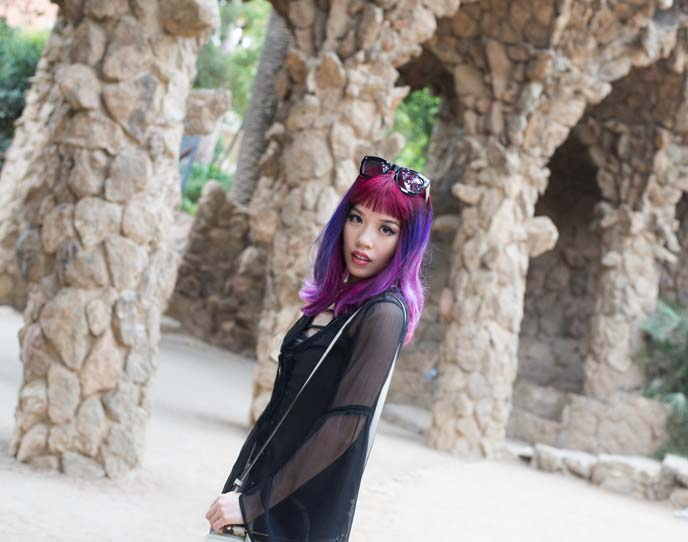park guell outfit post, style blogger