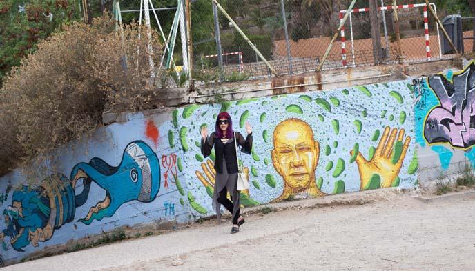 cool barcelona street art, public art