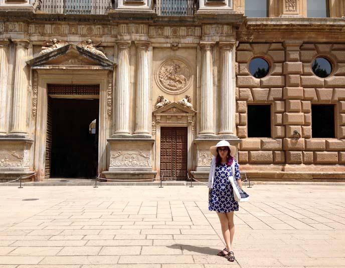 exterior moors palace, granada alhambra