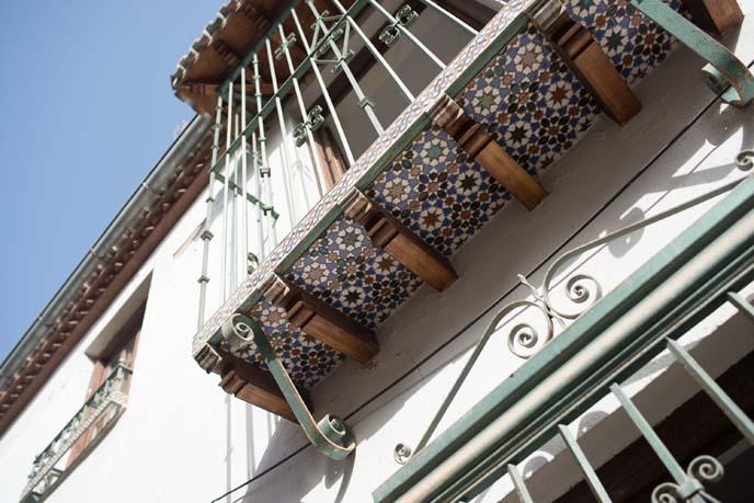 tile balconies, granada spain