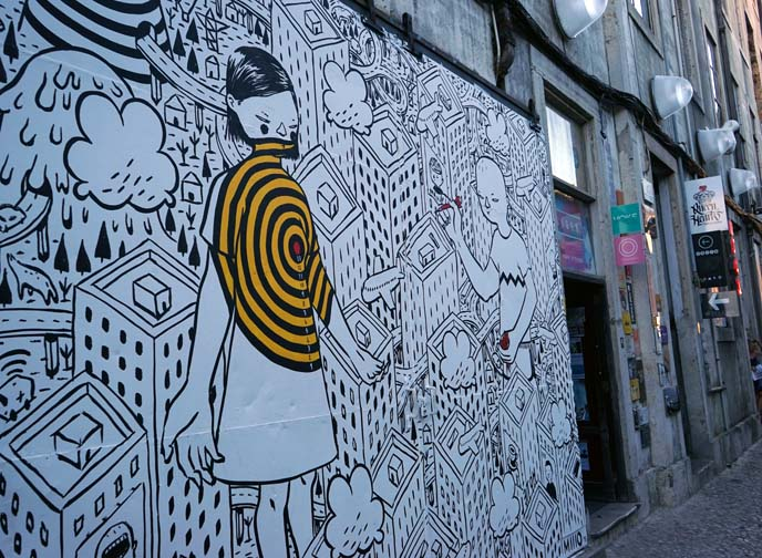 lisbon hipster neighborhood, art murals