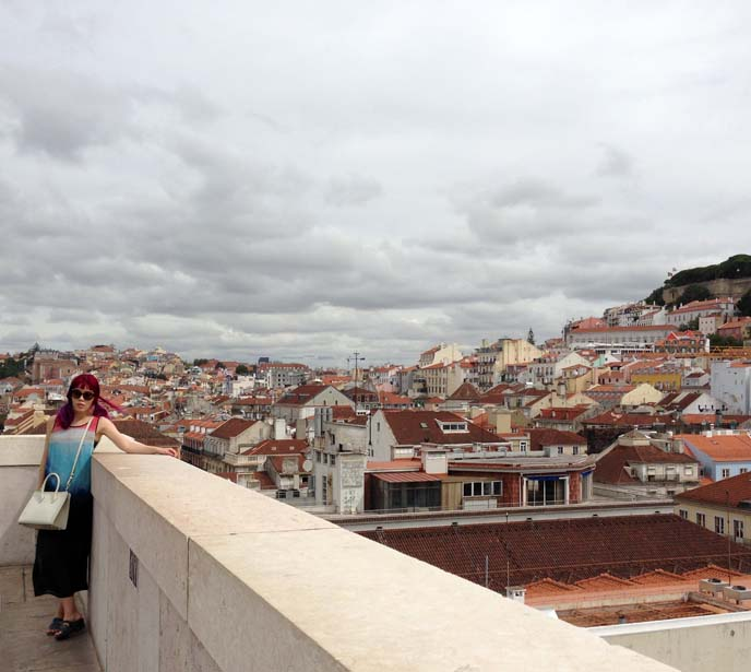 lisbon portugal rooftops, scenic views