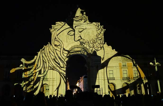 video mapping light show, lisbon portugal