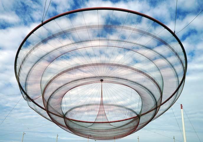 wire sculpture porto janet echelman