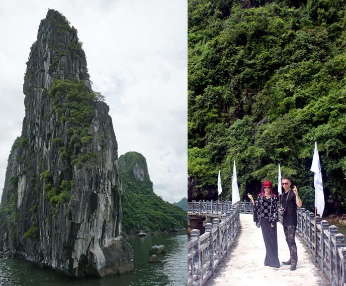 Dau Go Cave island bridge