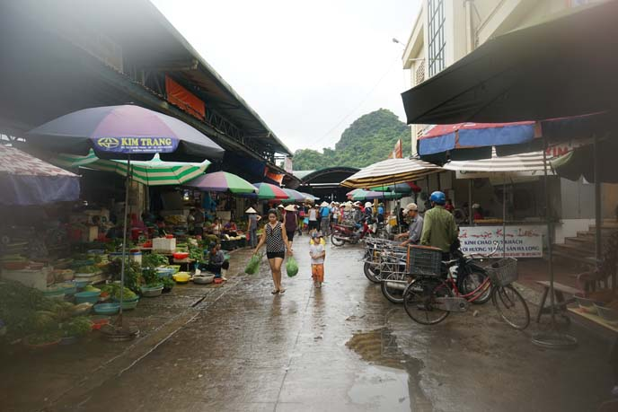 wet market ha long bay