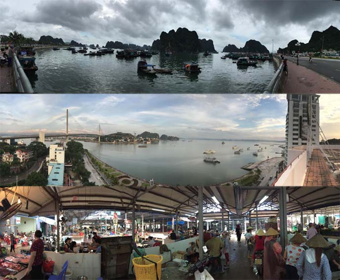 halong bay panorama view