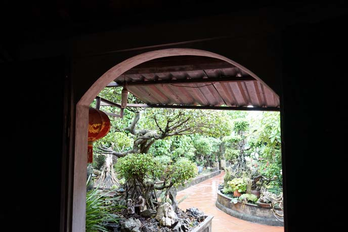 vietnamese garden, traditional house