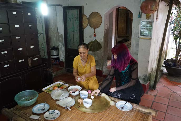 vietnam food tour, cooking