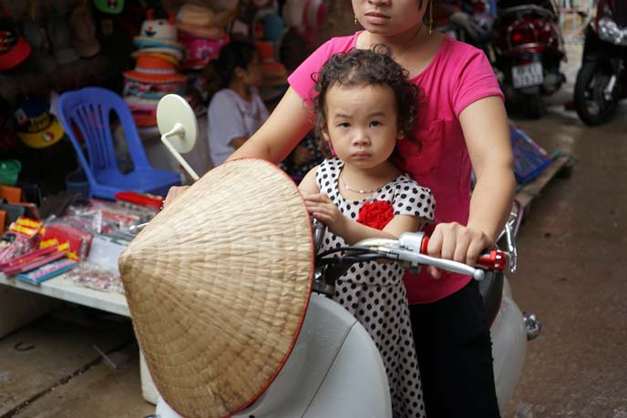 vietnamese child on motorbike