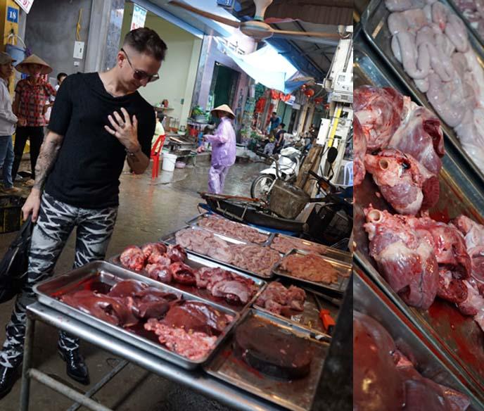 hanoi meat market, bizarre foods
