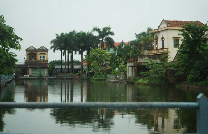 vietnamese village, pond