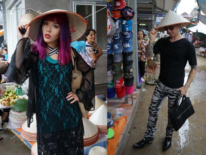 vietnamese poiny straw hats