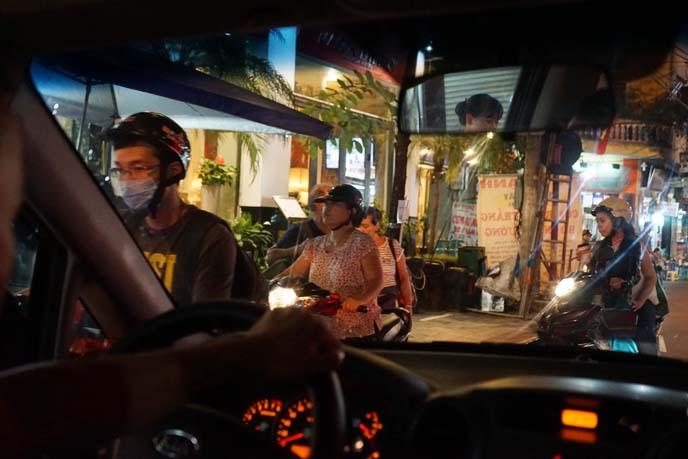 motorcycles traffic hanoi vietnam night
