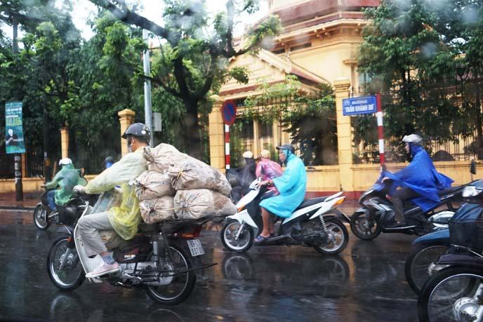 riding vietnam motorcycles in rain