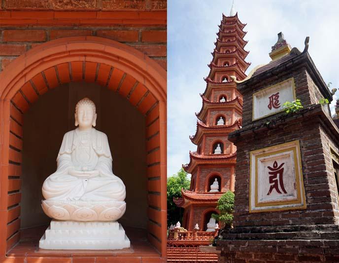 buddha statues, pagoda hanoi