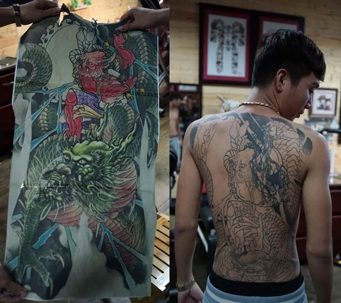 japanese bodysuit back tattoo