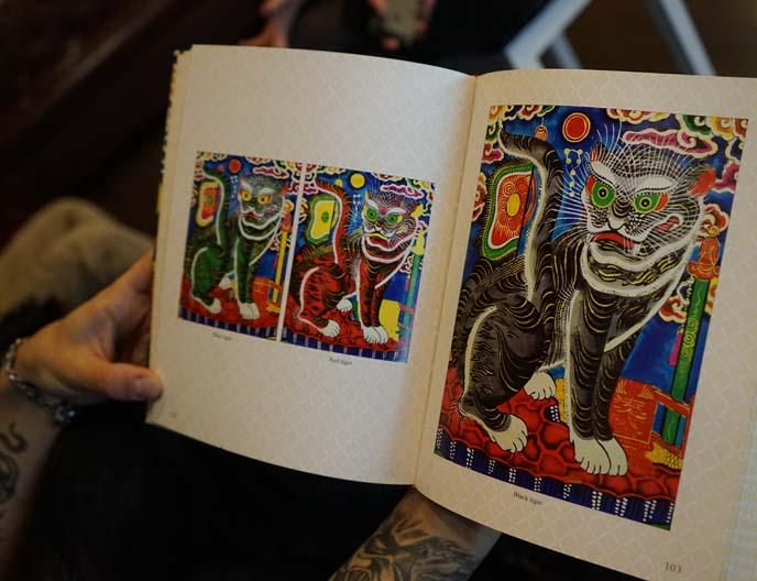 vietnamese folk art paintings, tattoos