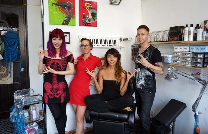 tattoo studio, artists hanoi vietnam