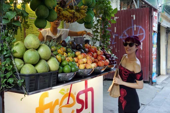 fresh fruit juice hanoi drinks