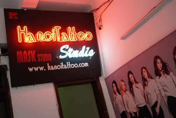 hanoi tattoo studio, parlor