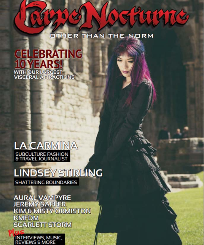 horror magazine cover, goth magazines
