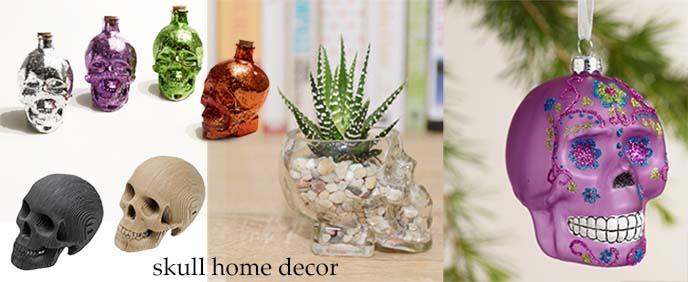 skull home decor, skull vases