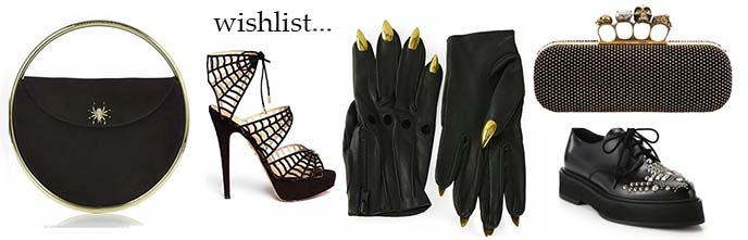 haute couture goth fashion purses