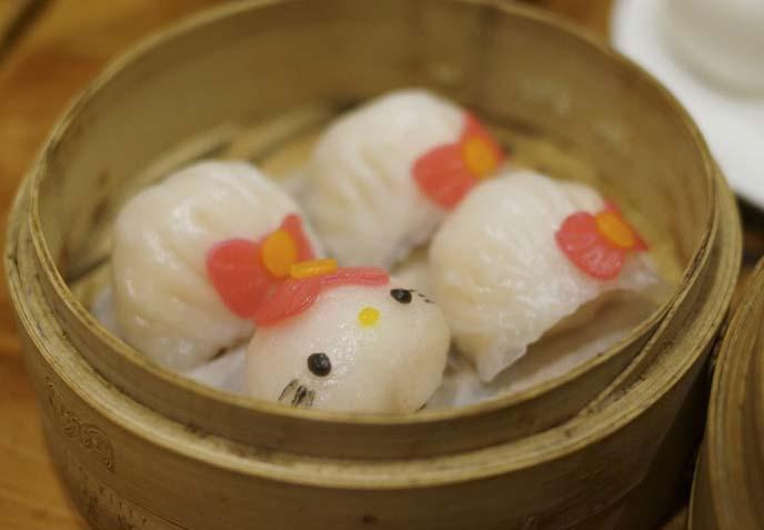 hello kitty face dumplings, har gaw
