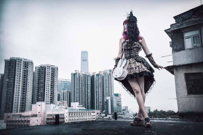 hong kong rooftop fashion photoshoot