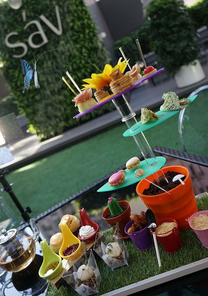 rainbow afternoon tea, cakes