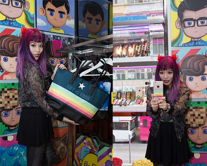 rainbow purse, iphone case