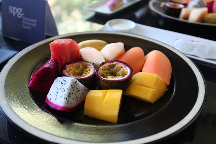 cambodian fruit plate, passionfruit