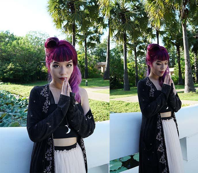 lavender hair color, dyed hair