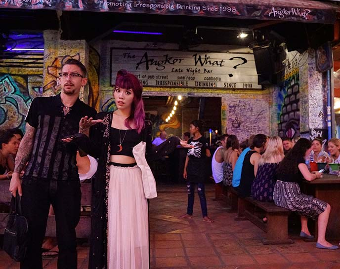 angkor what bar, siem reap pub street