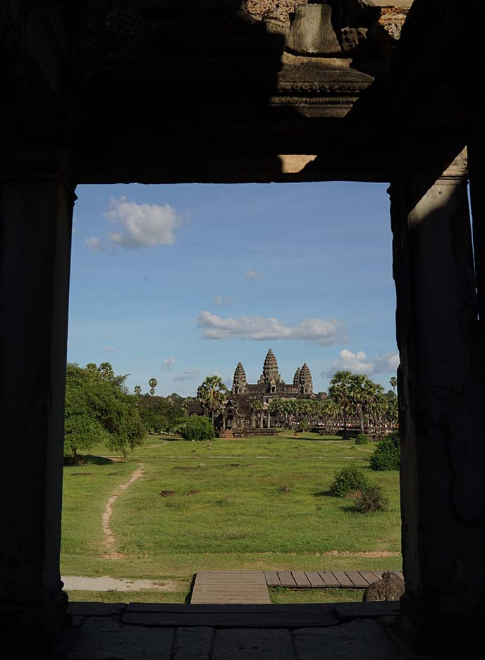 angkor wat window, travel photo