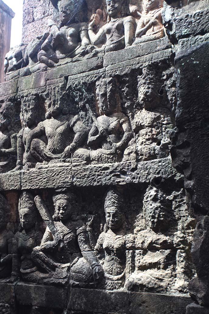 hindu deva bas relief