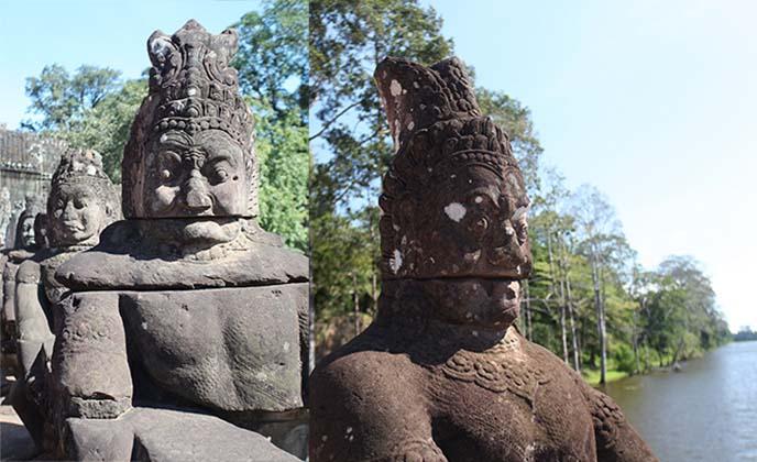 demon statues, angkor wat