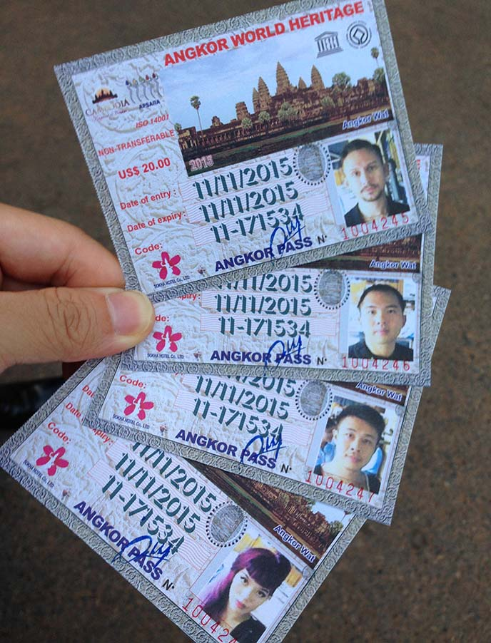 angkor wat passes, tickets