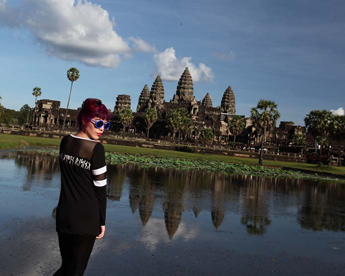 angkor wat reflection pool, travel blog