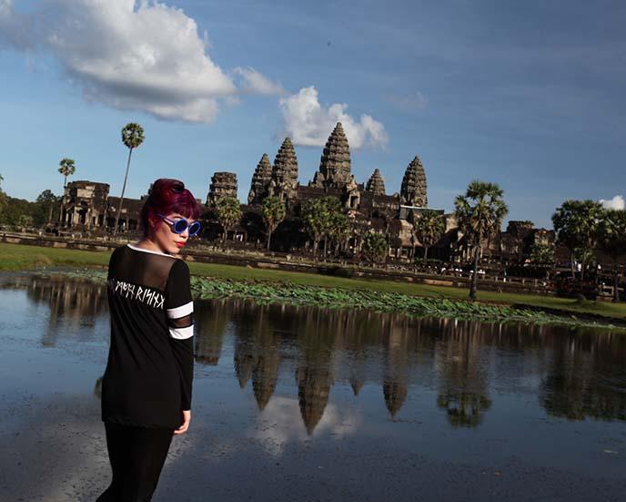 angkor wat reflection pool, travel blog