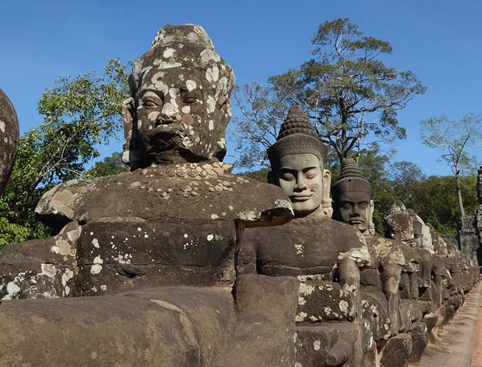 buddha demon statues, angkor wat