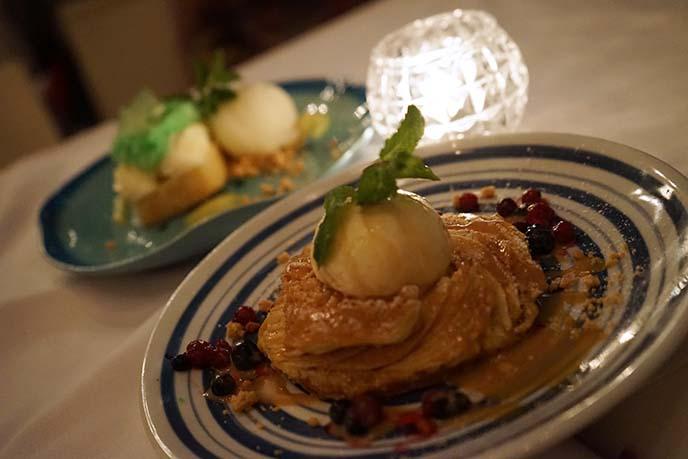 fofo desserts, menu fine dining