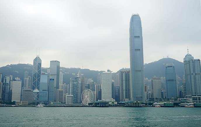 hong kong skyscrapers skyline