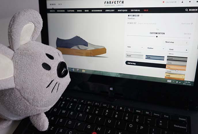 farfetch myswear custom sneakers