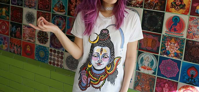 krishna tattoo shirt