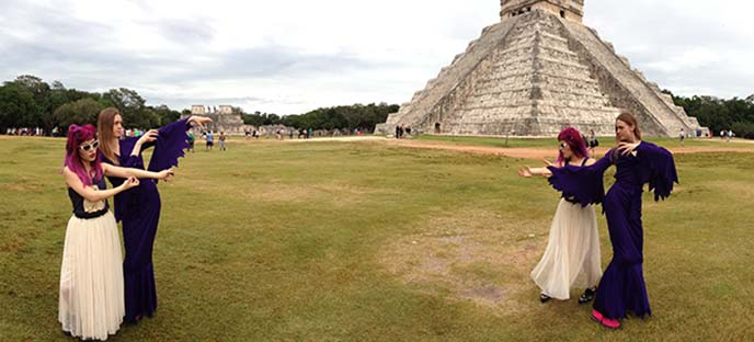 mayan pyramids, archaeological sites