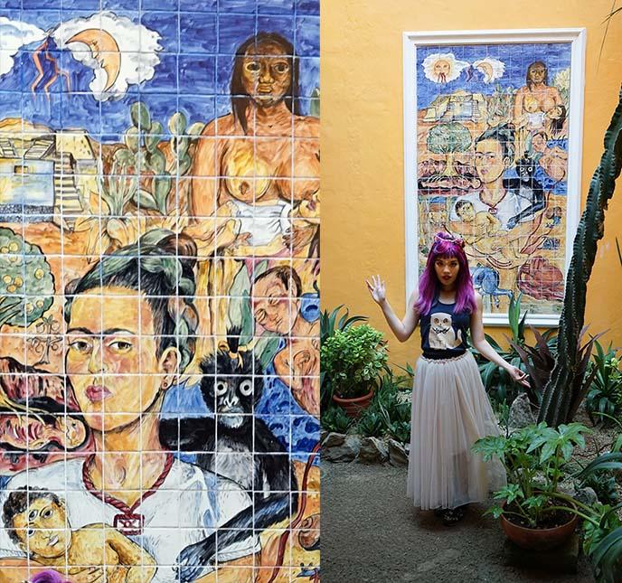 frida kahlo mosaic mural